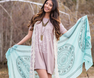 bohemian, trendy graphic tees, and boho chic image