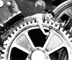 black and white, charlie chaplin, and funny image