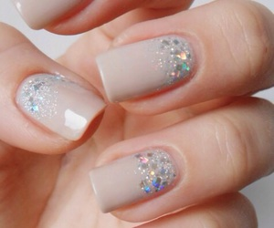 nails, nail art, and glitter image