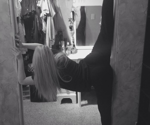 black and white, splits, and flexibility image
