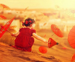 child, red, and cute image