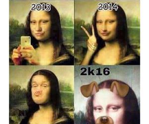 funny, lol, and mona lisa image