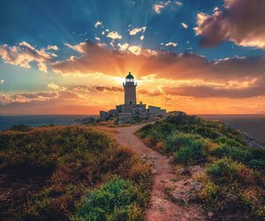 freedom, summer, and lighthouse image