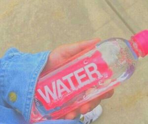 pink, water, and pastel image