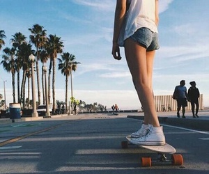 summer, girl, and skate image