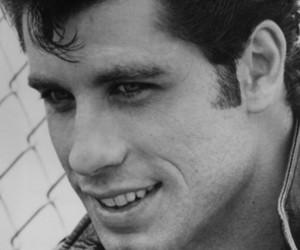 actor, black and white, and John Travolta image