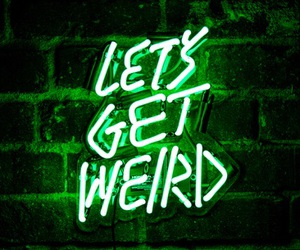green, neon, and weird image