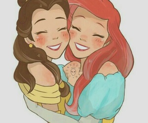 ariel, disney, and belle image