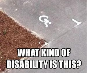 funny, lol, and disability image