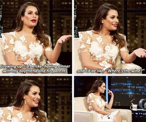 glee, interview, and lea michele image