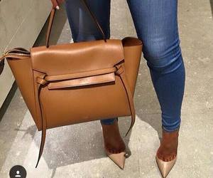 bag, jeans, and shoes image