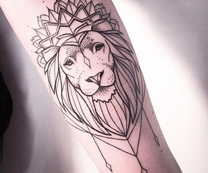 tattoo, lion, and arm image