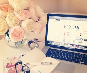 flowers, girly, and macbook image