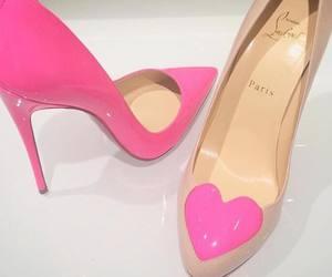 christian louboutin, pink, and fashion image