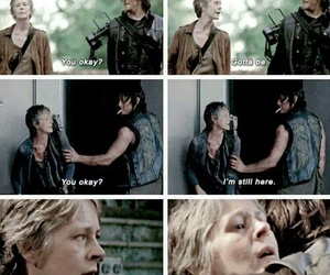 twd, carol, and norman reedus image