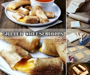 food and cheese rolls image