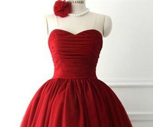 burgundy, Prom, and prom dress image