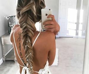back, girl, and hair image