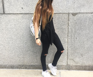 black, hairstyle, and style image