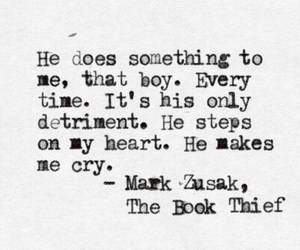 the book thief, quote, and book image
