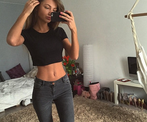 jeans, outfits, and body goals image