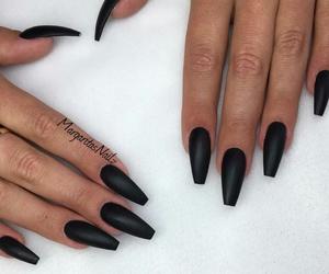 black, nails, and acrylic image