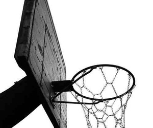 Basketball and black and white image