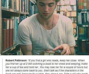 book, robert pattinson, and read image