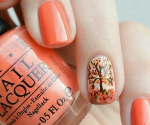 nails, autumn, and nail art image