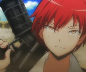 assassination classroom, karma akabane, and anime image