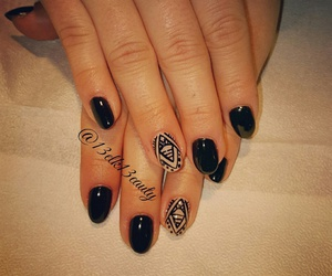 black, cute, and tribe nails image