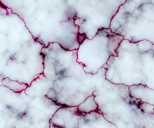 marble, white, and red image