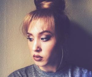 bang, lips, and makeup image