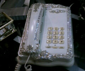 vintage, phone, and glitter image
