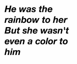 sad, quotes, and rainbow image