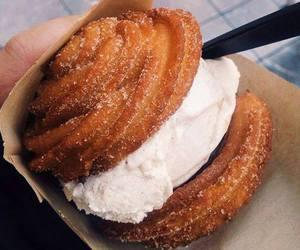food, churros, and ice cream image