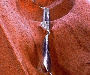 australia, waterfall, and uluru image