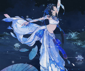 blue, dancing, and night image