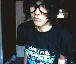 emo, boy, and simple plan image