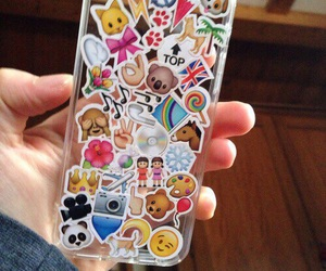 case, iphone, and emoji image