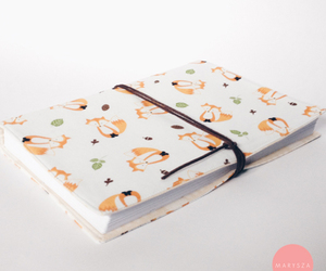diary, handmade, and fox image