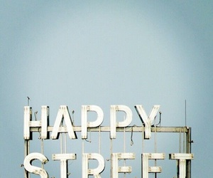 happy, street, and sign image