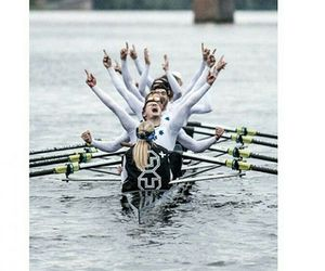 fast, girl, and rowing image