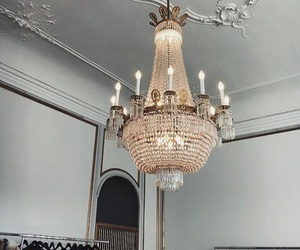 interior, beauty, and chandelier image