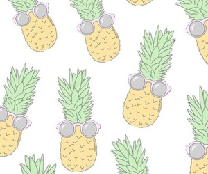 wallpaper, pineapple, and summer image