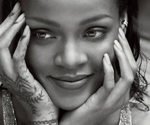rihanna, riri, and black and white image