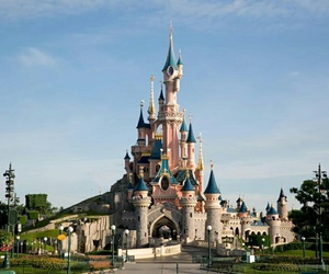castle, disneyland, and disneyland paris image