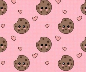 wallpaper, Cookies, and pink image