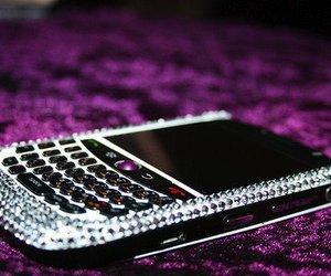 blackberry, phone, and purple image