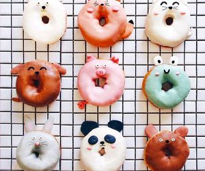 donuts, food, and animal image